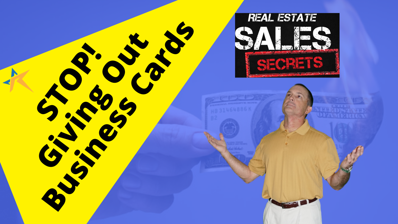 Stop! Handing Out Business Cards